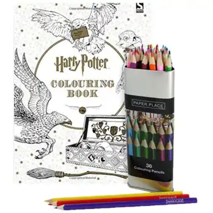 Harry Potter Colouring Book with 36 Colouring Pencils