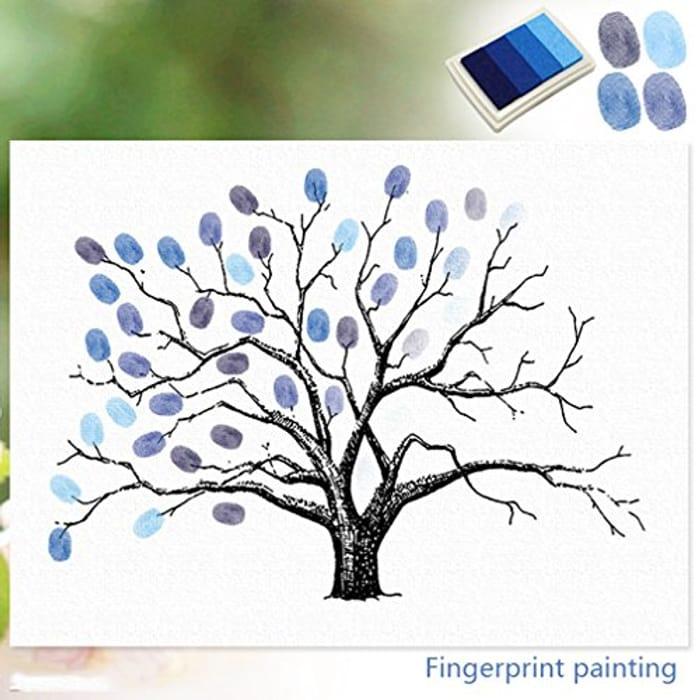 Fingerprint Tree, Creative DIY Guest Signature Sign-in Book