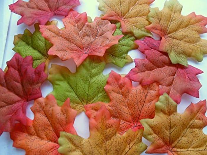 100 Autumn Maple Silk Leaves