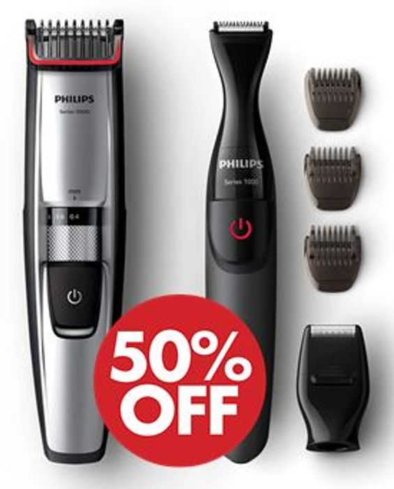 Philips Series 5000 Beard & Stubble Trimmer with Precision Multi Groom Styler