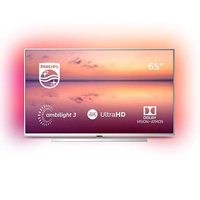 £300 OFF! Philips Ambilight 65 Inch LED Smart TV 2019/2020 Model, ALEXA BUILT-IN
