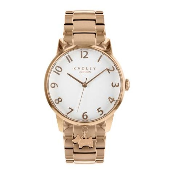 White Dial Rose Gold Stainless-Steel Bracelet Watch