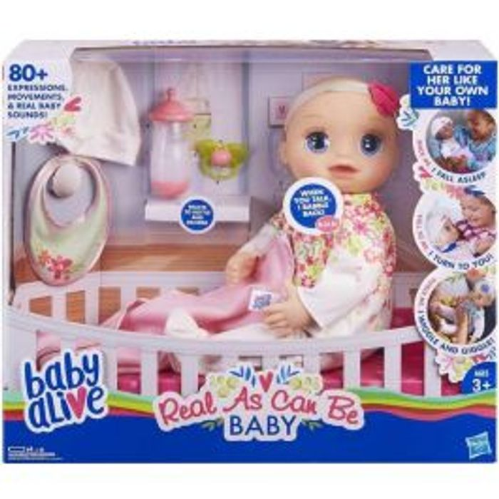 Bargain! Baby Alive Real as Can Be Baby Blonde Hair at Bargain Max