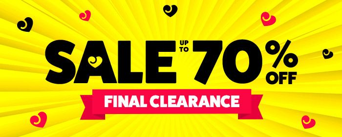 Love Honey Up to 70% Final Clearance Sale