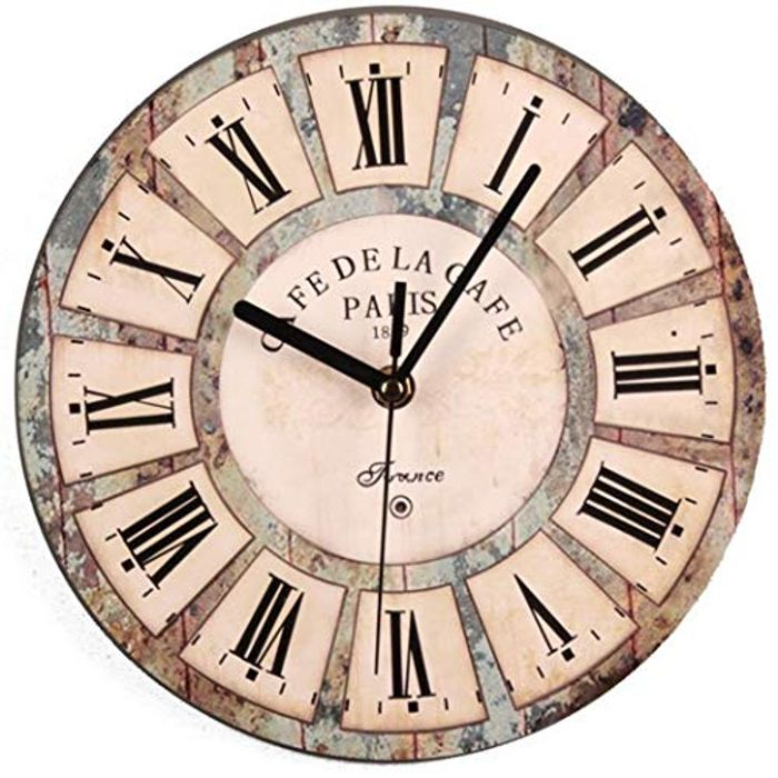 Nordic Style Silent round Wooden Wall Clock 80% off + Free Delivery