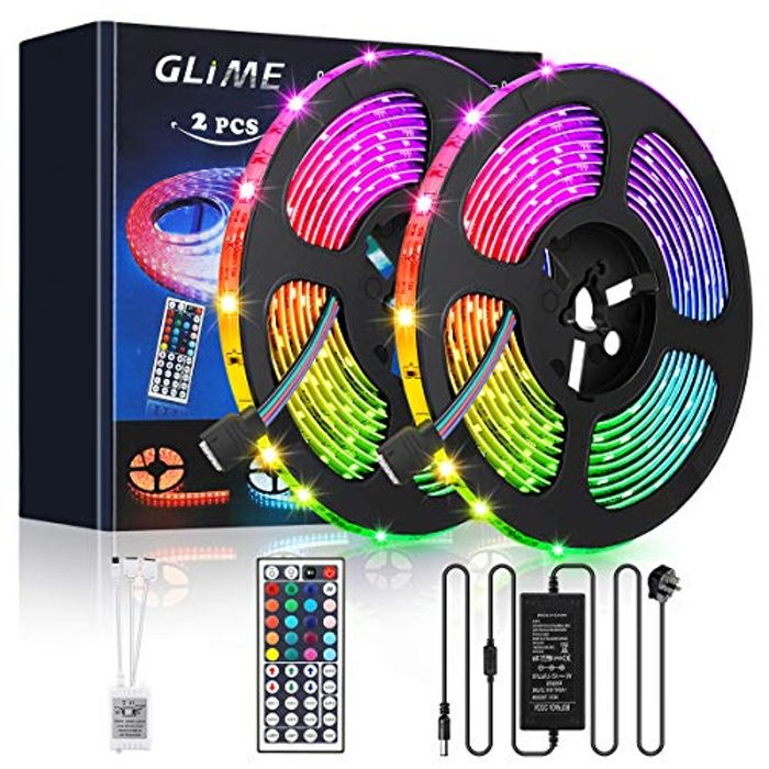 GLIME Strip Lights 10m Waterproof 300 LEDs 5050 RGB Outdoor - 40% Off!