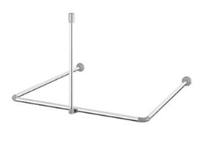 Cooke & Lewis U-Shaped Shower Curtain Rail Aluminium Chrome Only £3.99