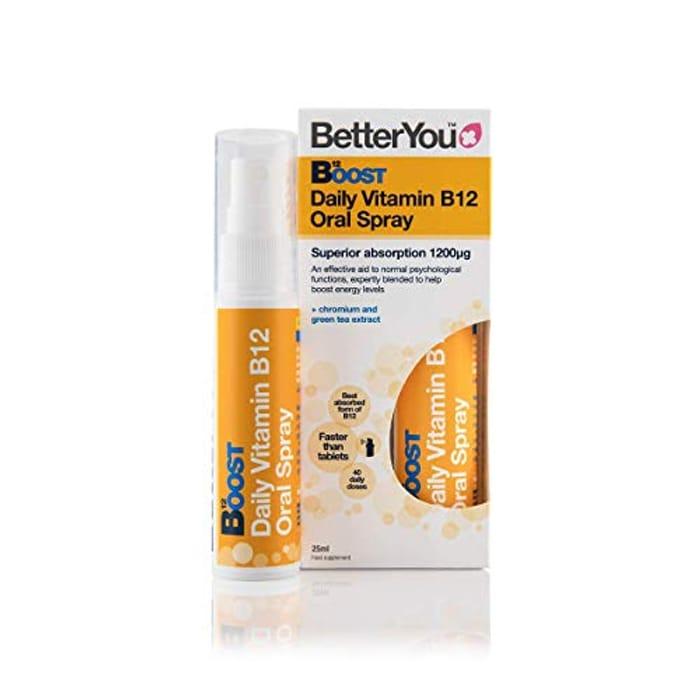 Best Ever Price! BetterYou Boost B12 Oral Spray 25ml - HALF PRICE!
