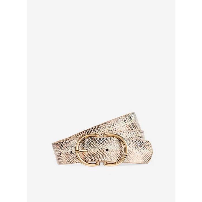 Dorothy Perkins Cream 2 Part Buckle Belt - save £4.40