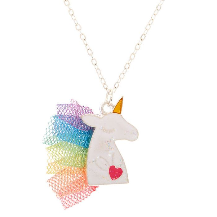 Claire's Club Unicorn Mane Pendant Necklace