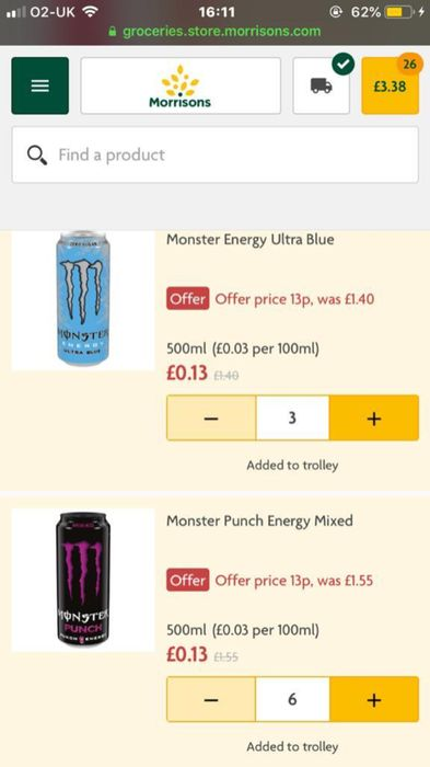 Glitch Monster Energy Most Flavours
