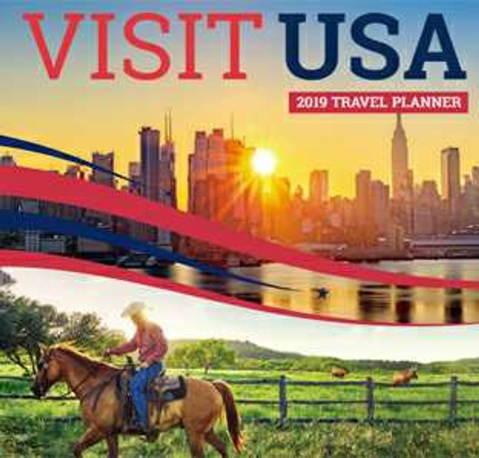 Free Copy of the 2019 Visit USA Travel Planner