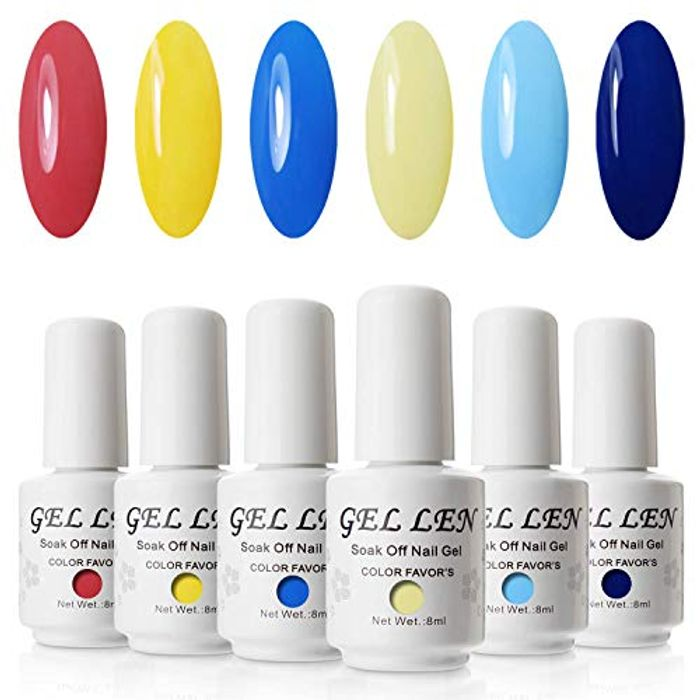 Gellen Candy Colour Gel Nail Polish Set - 8ml 6 Colours