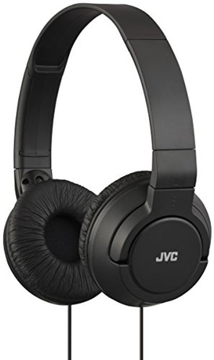 JVC Foldable Lightweight Powerful Bass Over-Ear Headphones - Black