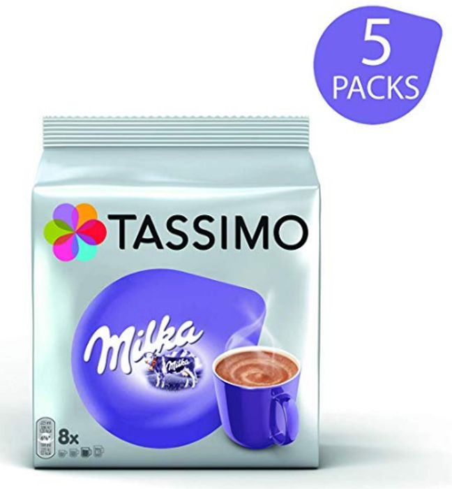 Cheap TASSIMO Milka Hot Chocolate 8 T DISCs 40 Servings, reduced by £0.95!