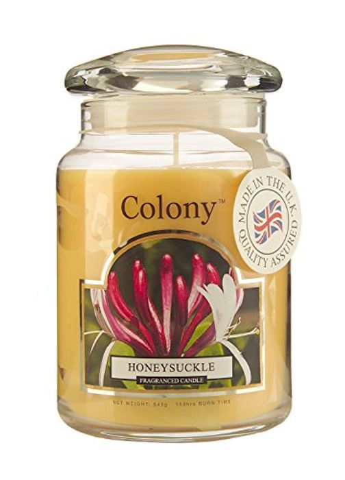 Colony Large Candle Jar, Honeysuckle