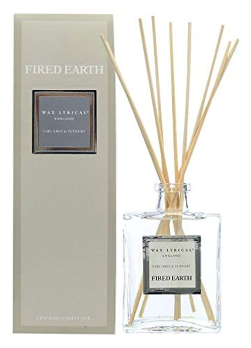 Wax Lyrical Fired Earth Reed Diffuser, Earl Grey and Vetivert