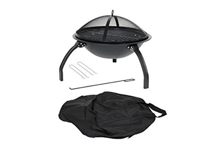La Hacienda 58106 Camping Firebowl with Grill