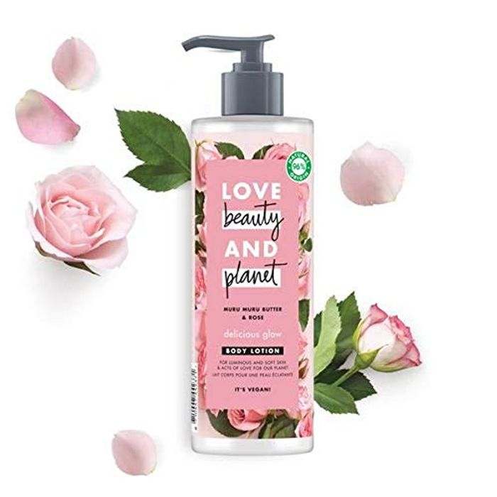 Love Beauty and Planet Muru Muru Butter and Rose Delicious Glow Body Lotion 400