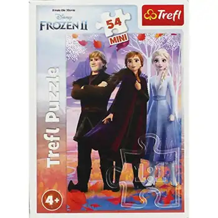 Cheap Disney Frozen 2 Anna Elsa and Kristoff Mini 54 Piece Puzzle Only £1