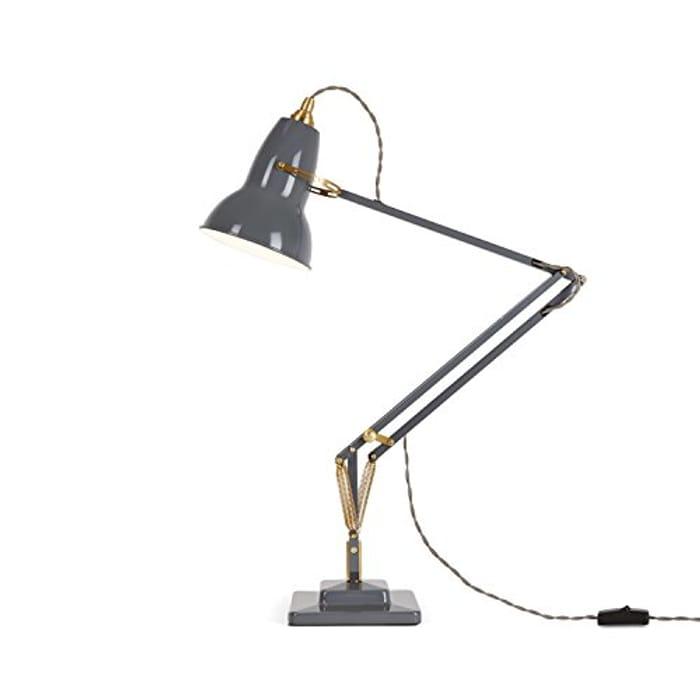 Anglepoise Original 1227 Brass Desk Lamp - Elephant Grey [Energy Class A+]