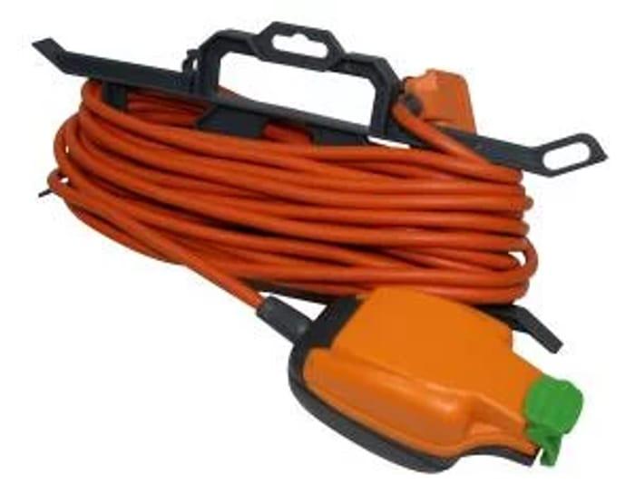Masterplug Weatherproof Garden Tidy Extension Lead - 15m 10A