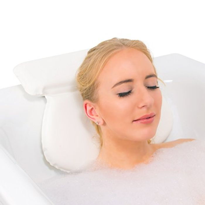 Waterproof Bath Pillow Cushion with Non-Slip Suction Cups