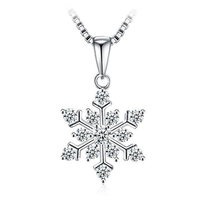 925 Sterling Silver Necklace Zirconia