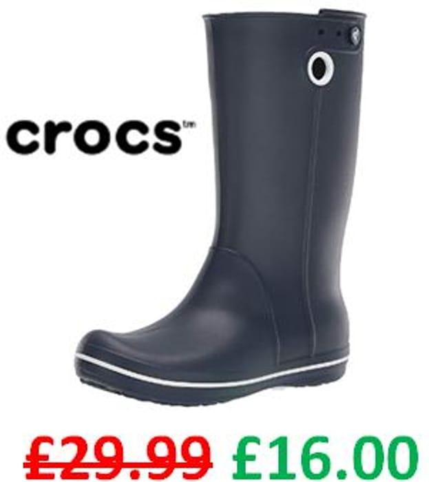 Wellies! Crocs Women Crocband Jaunt Rain Boots - Almost HALF PRICE!