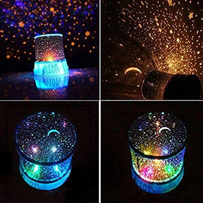 Best Price! Projector Night Light 360 Rotating Romantic LED Starry Night Sky