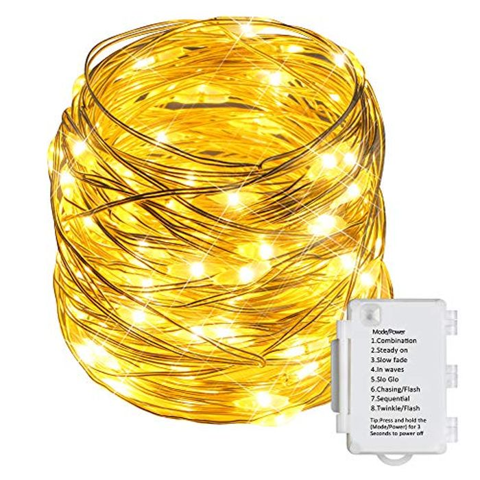 Deal Stack! STARKER Battery Powered Fairy String Lights Indoor with 100 LEDs