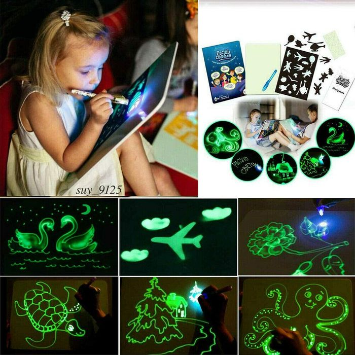 Draw with Light Fun and Developing Toy Drawing Board FREE DELIVERY