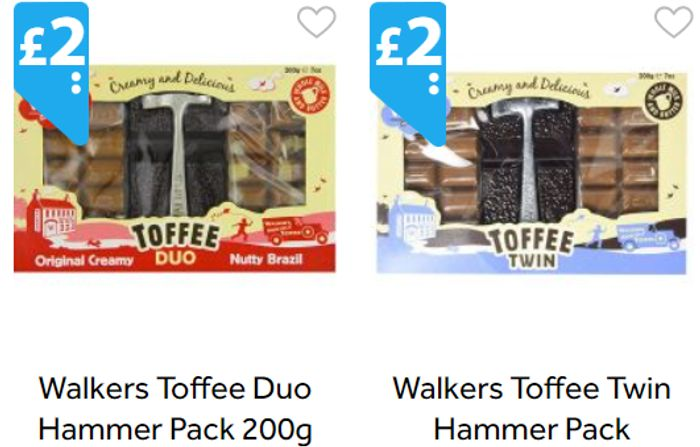 Walkers Toffee Twin Hammer Pack