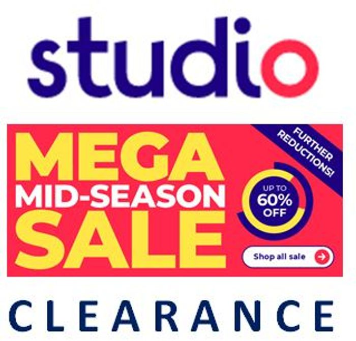 STUDIO - Mid Season CLEARANCE SALE from 79p - Fashion, Home, & More