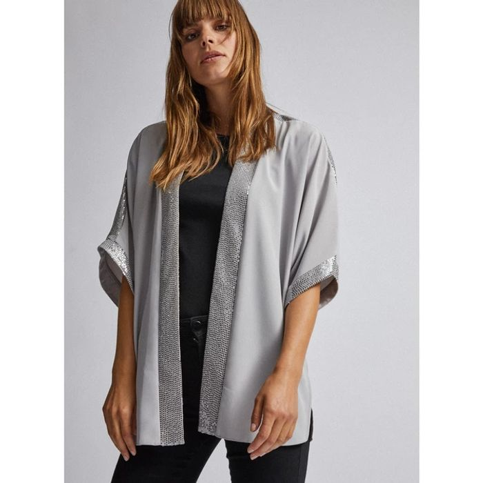 Dorothy Perkins Silver Shimmer Cover Up - save £18.40