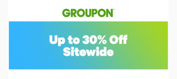 Up to 30% off Sidewide