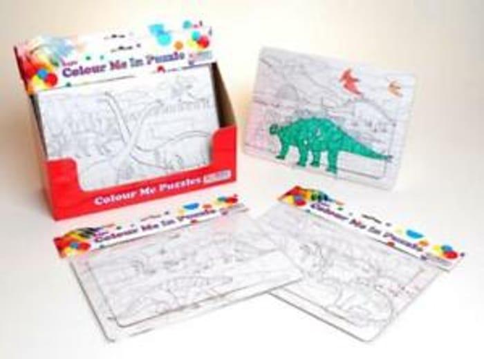 Best Price! Colour Your Own Dinosaur Jigsaw Puzzle Paint/Colour 24 Pieces