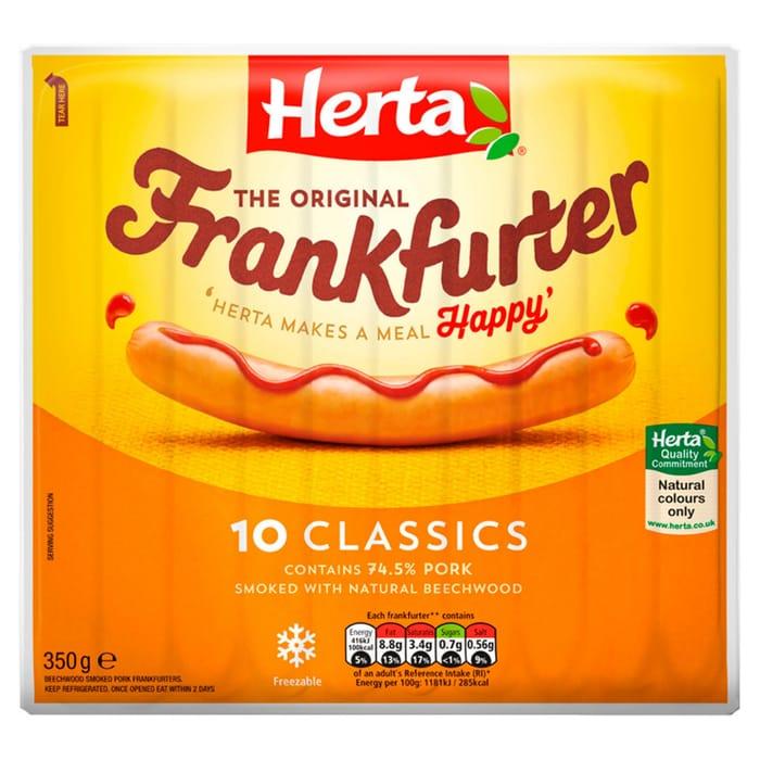 Herta Frankfurters Hot Dogs 350g