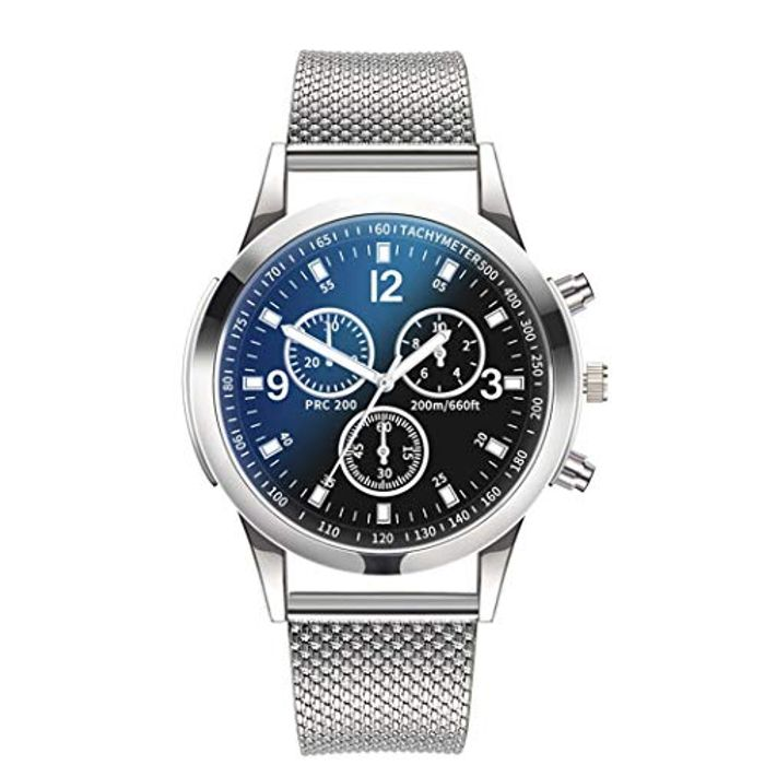 Unisex Fashion round Shape Folding Buckle Closure Quartz Wristwatch