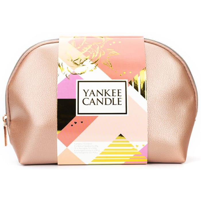 Yankee Candle Cosmetic Bag Gift Set - Bag / 12 Tea Lights
