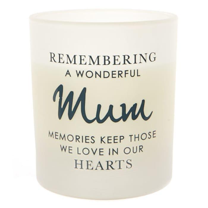 Victoria Meredith Memorial Scented Candle - Mum
