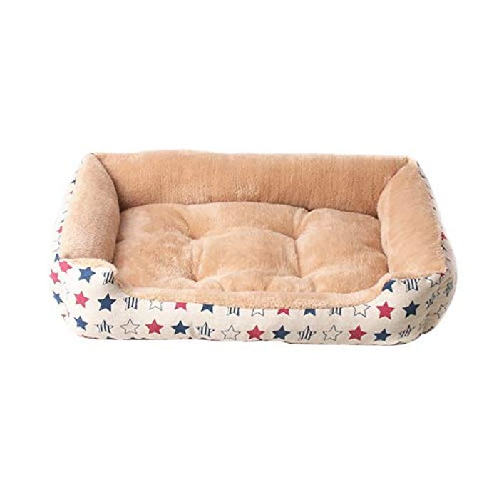 Deluxe Pet Bed for Dogs or Cats (Brown 45 * 31 * 10cm)