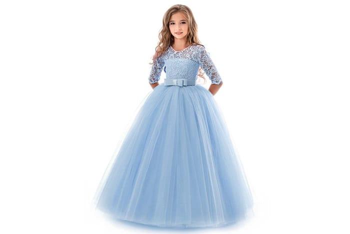 Kids Party Princess Dress 5 Colours & Ages 5-14