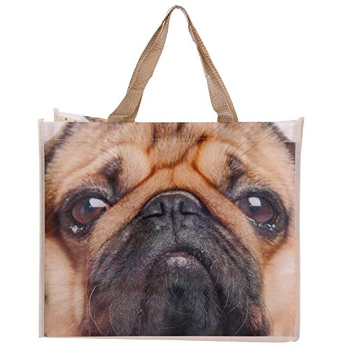 Pug Shopper Bag by Pukator 40 X 33cm FREE DELIVERY