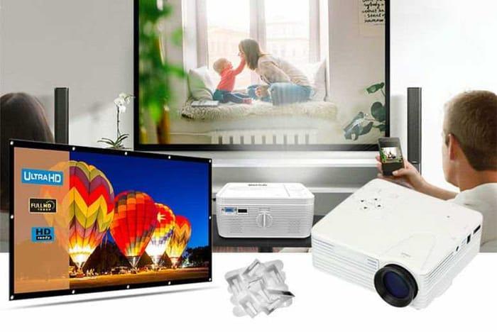 Home Cinema Bundle - 1080p HD Projector & 84 Screen!