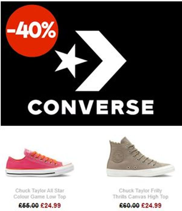 Converse Sale - up to 40% Off