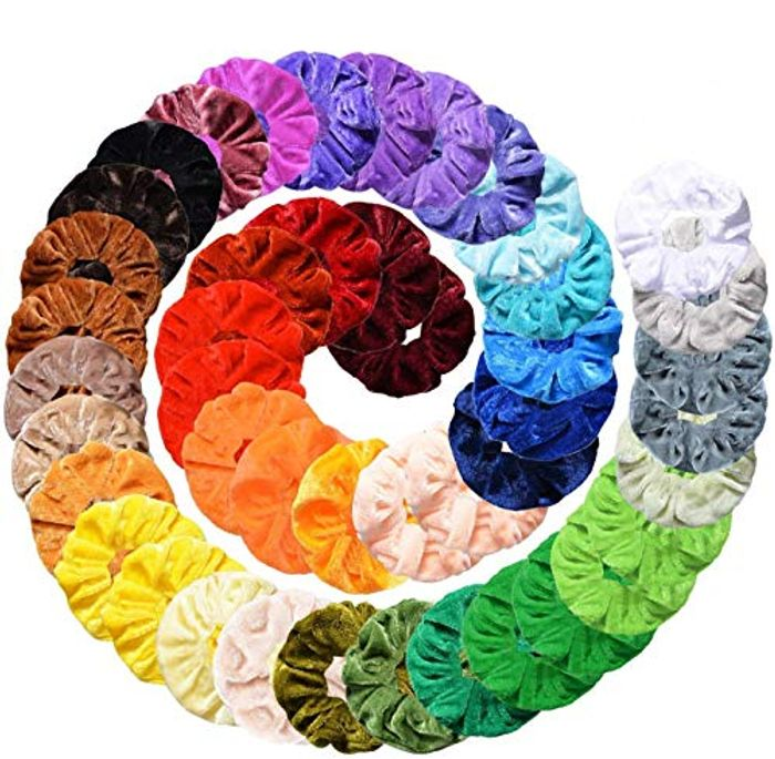 Velvet Hair Scrunchies, 45Pcs - HALF PRICE!