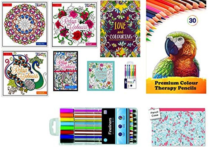 Adult Colouring Books Mega Value 50% off + Free Delivery