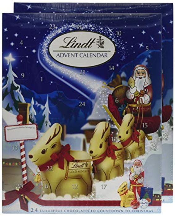 Special Offer 2 Lindt Advent Calendars- Milk Chocolate, 160 G - Save £2!