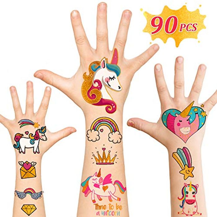57% off for Kids Unicorn Tattoos